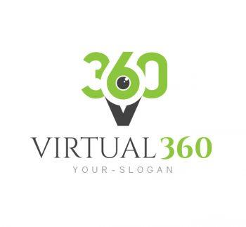 Virtual 360 Photography Logo & Business Card Template