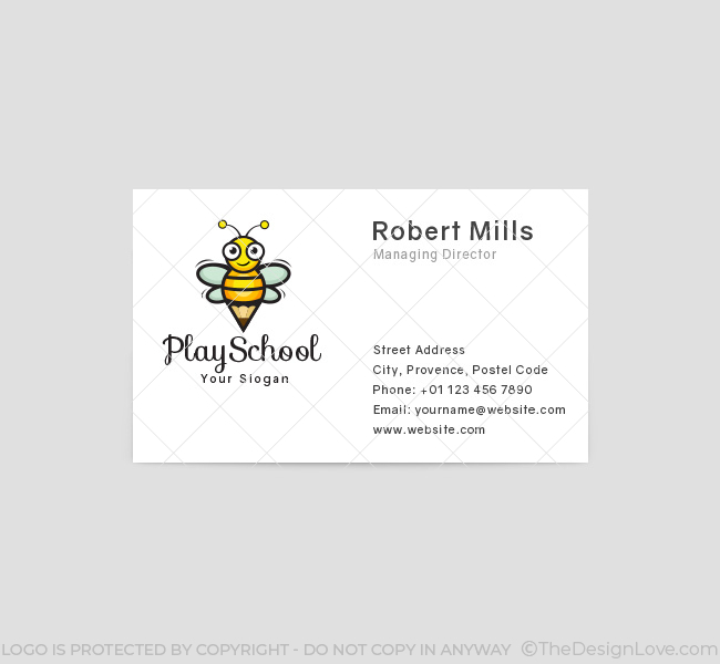 Happy-Bees-Play-School-Business-Card-Front