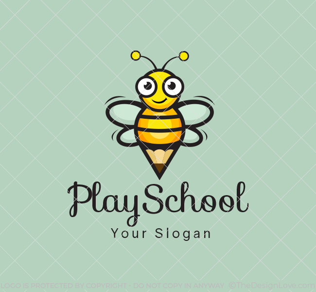 Happy-Bees-Play-School-Start-up-Logo