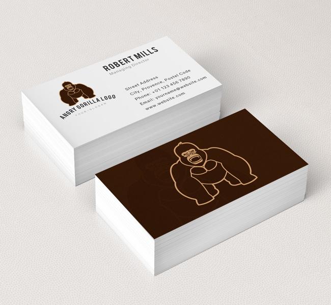 Gorilla-Logo-Business-Card-Mockup
