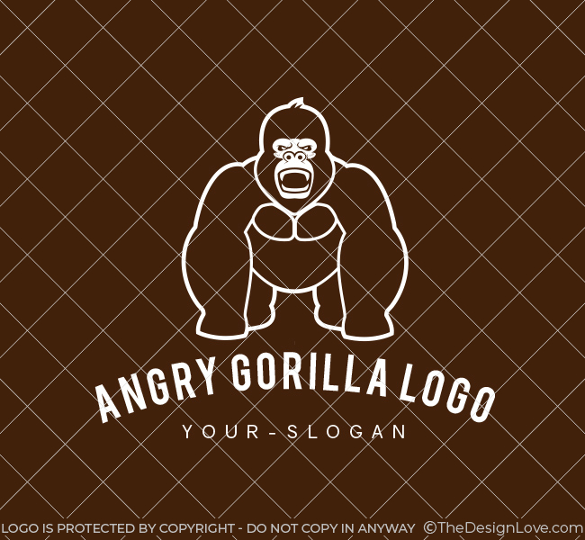 Pre-Designed-Logo-Gorilla-Logo-White