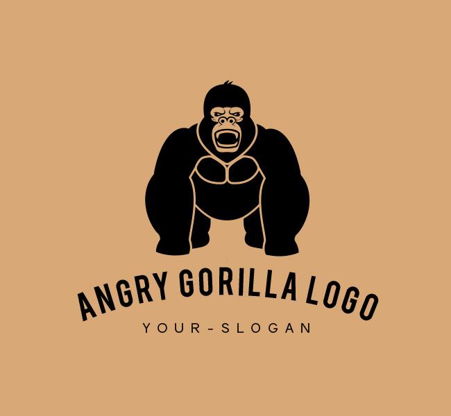 Ready-made-Logo-Gorilla-Logo-Black
