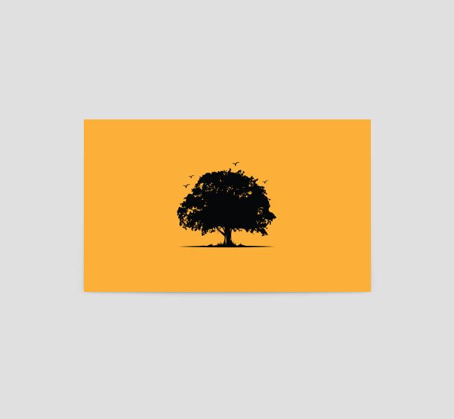 Oak-Tree-silhouette-Business-Card-Template-Back