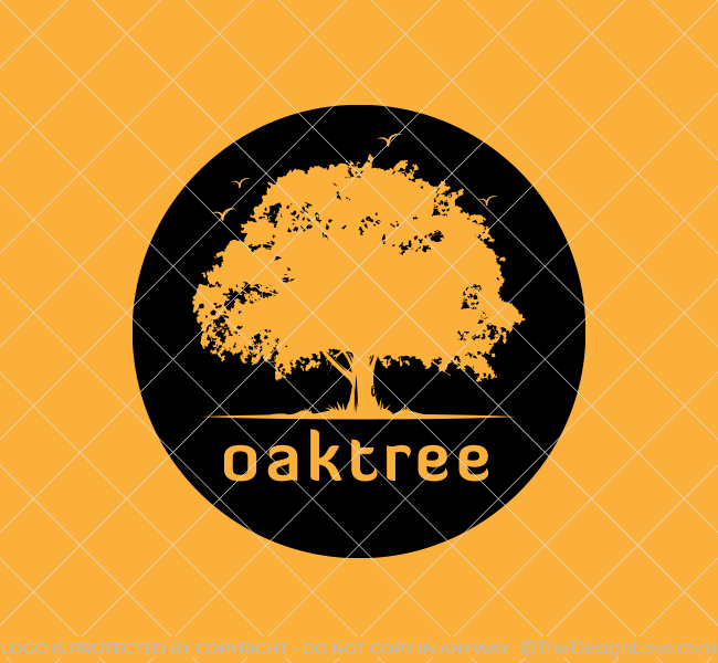 Ready-made-Logo-Oak-Tree-silhouette-Black