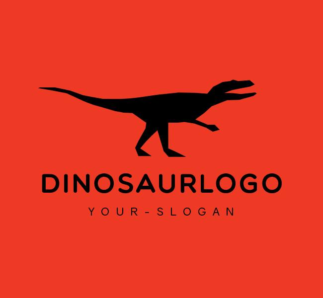Ready-made-Logo-Red-Dinosaur-Black