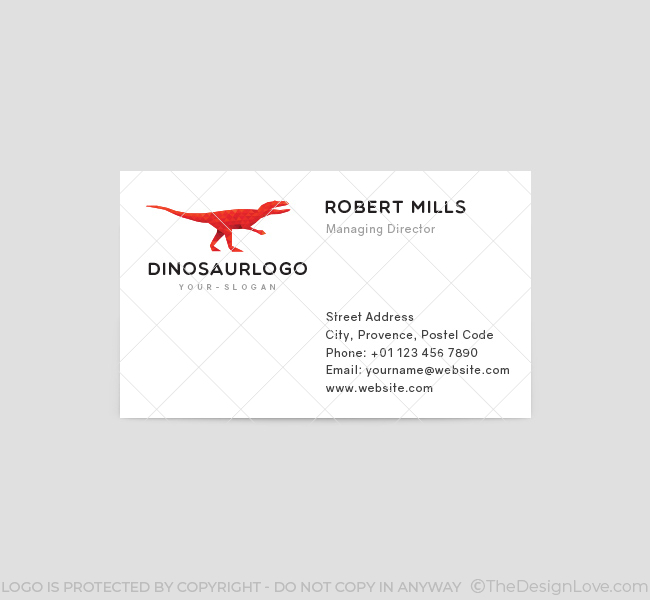 Red-Dinosaur-Business-Card-Template-Front