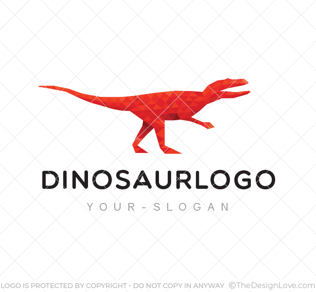 Red Dinosaur Logo & Business Card Template - The Design Love