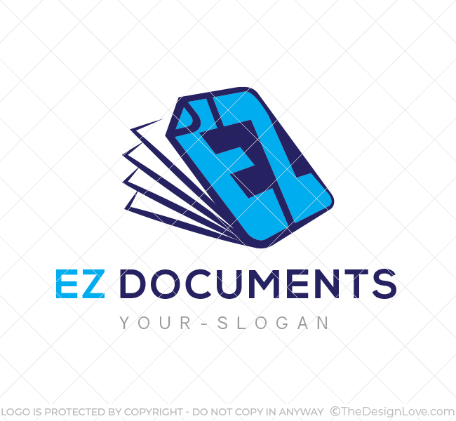 Ez documents logo business card template the design love ez documents logo template flashek Images