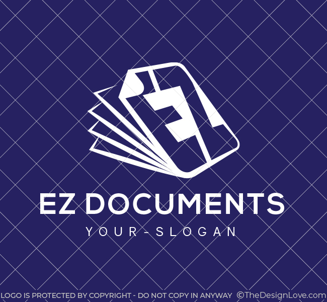 Pre-Designed-Logo-EZ-Documents-White