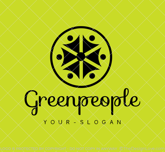 Ready-made-Logo-Green-People-Black