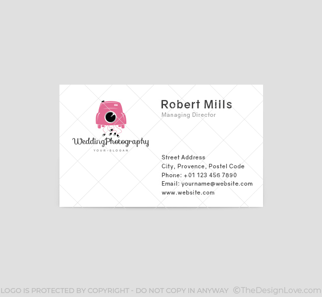 Wedding photography logo business card template the design love wedding photography business card template front fbccfo Choice Image