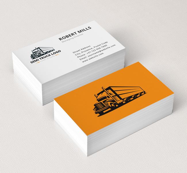 Truck-Logo-Business-Card-Mockup