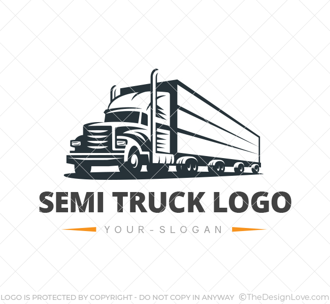Preferred Truck Logo & Business Card Template - The Design Love TF36
