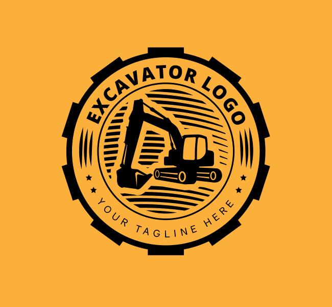 Ready-made-Excavator-Logo-Black