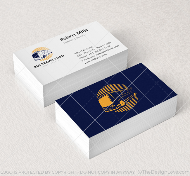 Bus travel logo business card template the design love bus travel business card mockup reheart Choice Image
