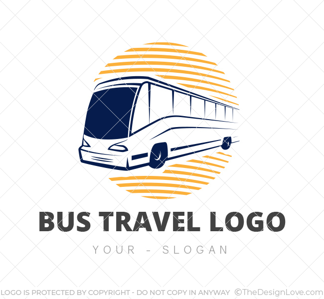 bus travel logo business card template the design love