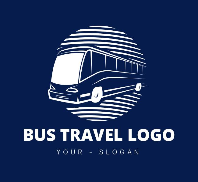 Pre-Designed-Logo-Bus-Travel-White