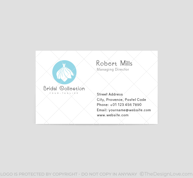 Bridal-Dress-Business-Card-Template-Front