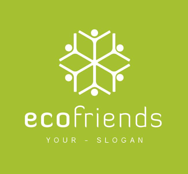 Pre-Designed-Logo-Eco-Friends-White