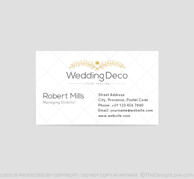 Wedding flower deco logo business card template the design love wedding flower deco business card template front fbccfo Choice Image