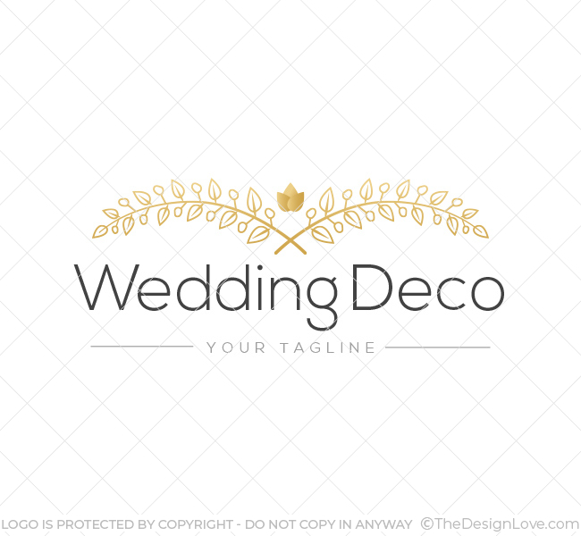Wedding flower deco logo business card template the design love wedding flower deco logo junglespirit Images