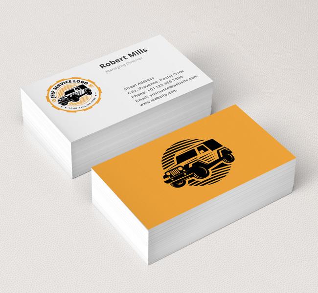 Jeep service logo business card template the design love jeep service logo business card template colourmoves