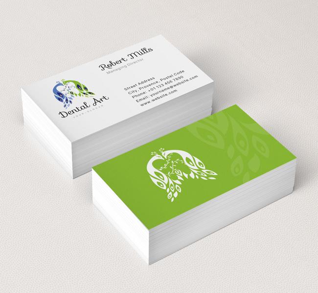 Dental art logo business card template the design love dental art business card mockup colourmoves
