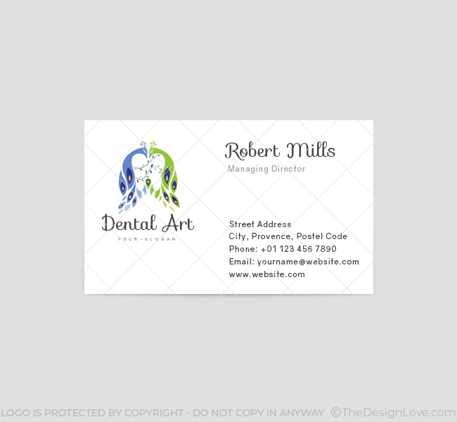 Dental Art Logo Business Card Template The Design Love