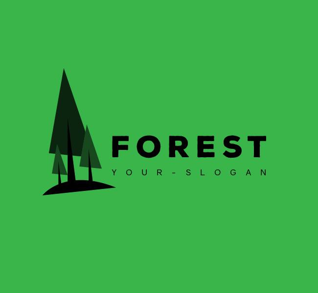 Forest-Resort-Stock-Logo-Black