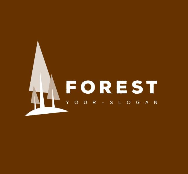 Pre-Designed-Logo-Forest-Resort-White
