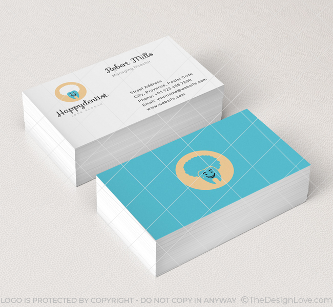 Dental clinic logo business card template the design love dental clinic logo business card template reheart Images