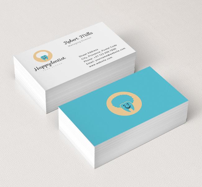 dental clinic logo business card template - Dentist Business Card