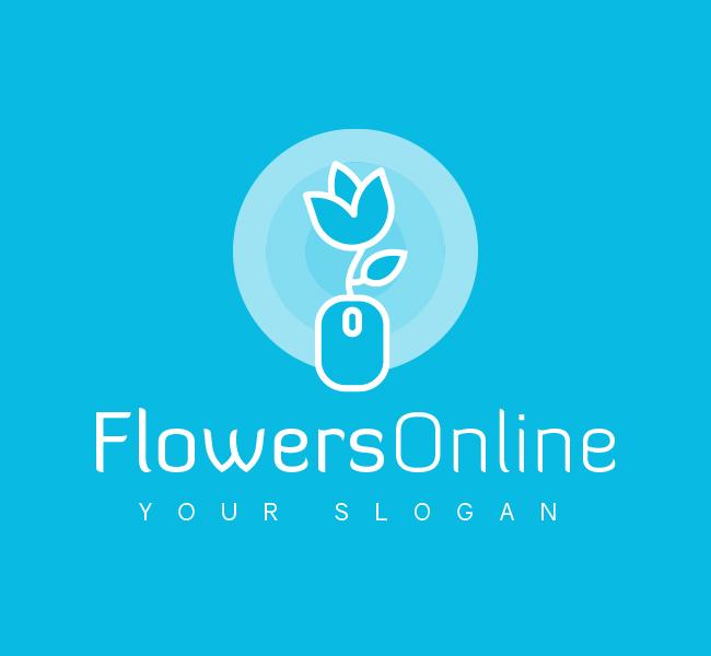 Pre-Designed-Logo-Flowers-Online-White