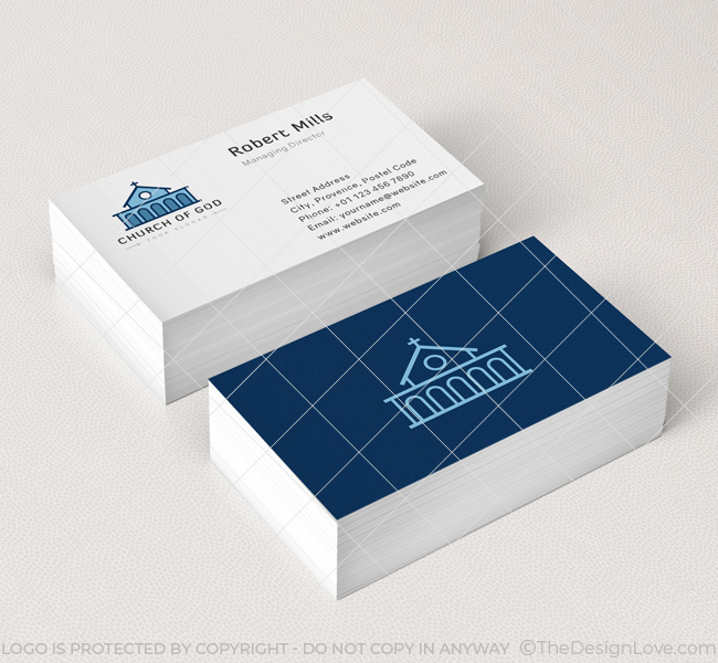 church of god business card mockup - Church Business Cards