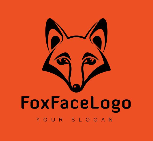 Fox-Face-Logo-Black