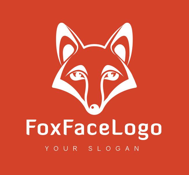 fox face logo amp business card template the design love