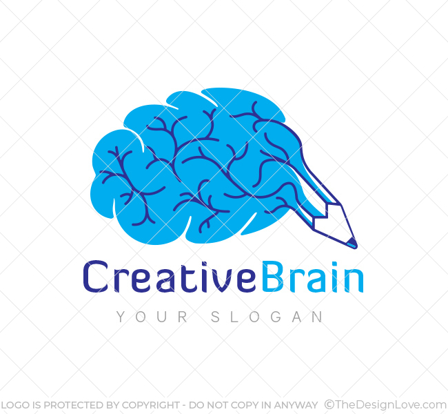 Creative Brain Logo & Business Card Template - The Design Love