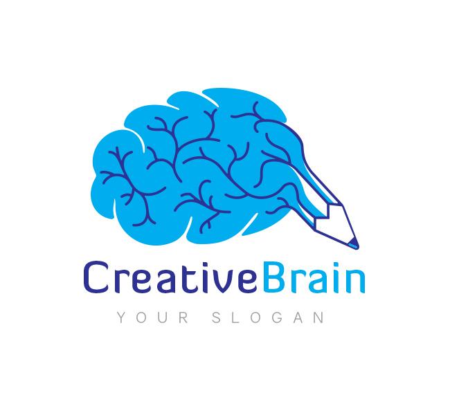 creative brain logo business card template the design love rh thedesignlove com brian logan brain logic