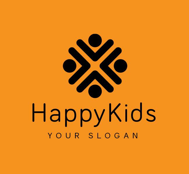 Happy-Kids-Logo-Red-Circle-Black