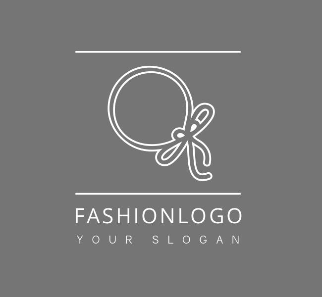 Pre-Designed-Logo-A-Fashion-White