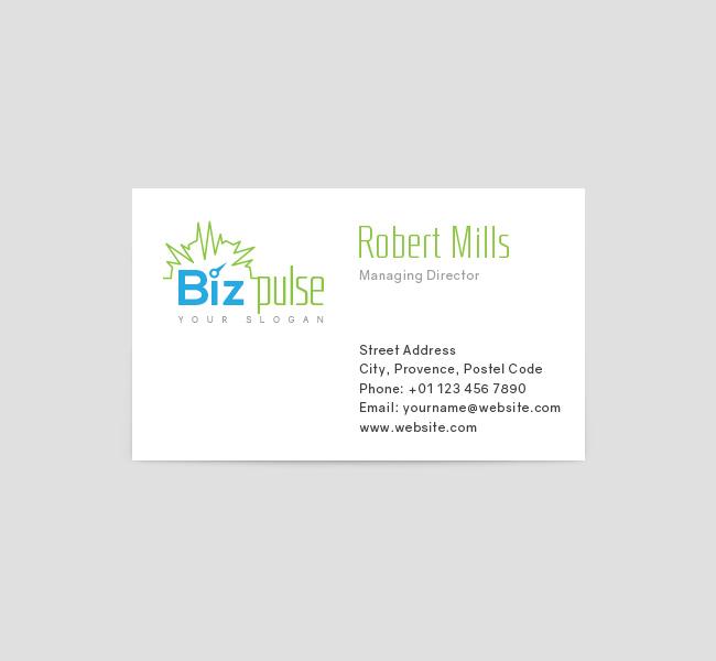 bizpulse logo business card template the design love