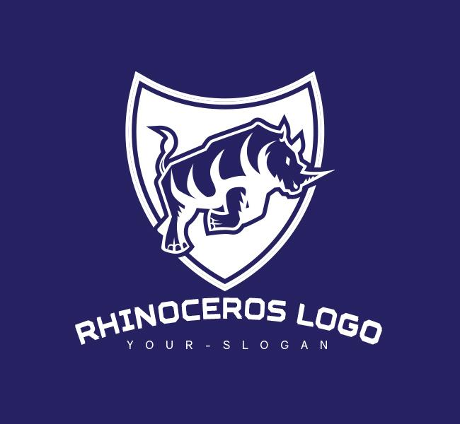Pre-Designed-Logo-Rhino-Shield-White