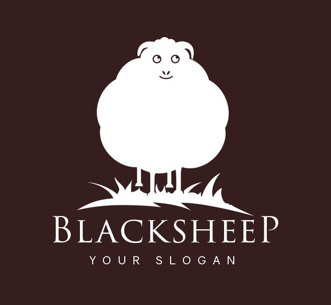 Pre-Designed-Logo--Black-Sheep-White
