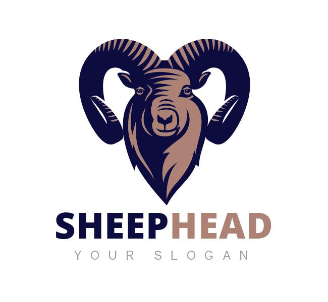 Sheep Head Logo Template