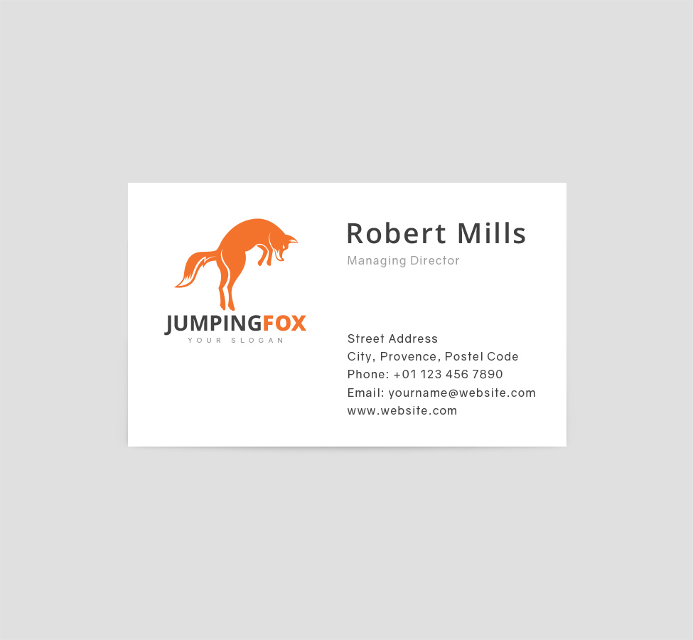 Jumping Fox Logo & Business Card Template - The Design Love