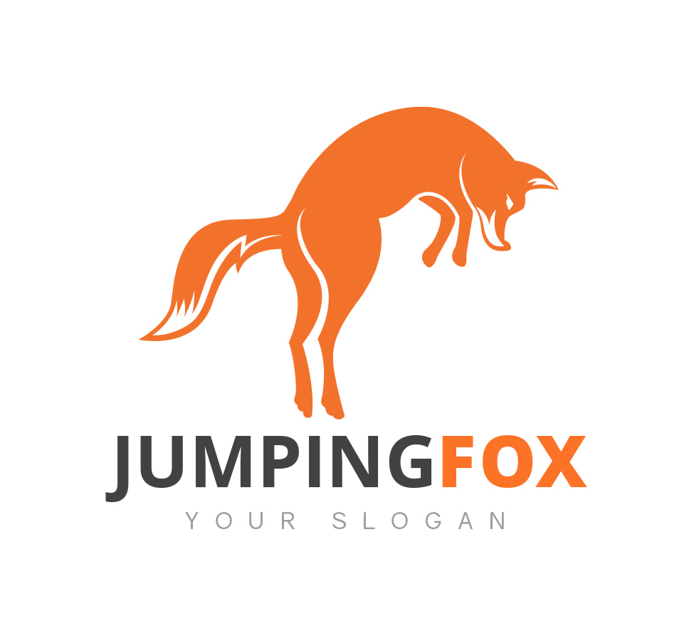 jumping fox logo business card template fox logo
