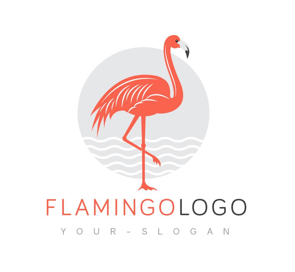 Flamingo logo business card template the design love flamingo logo pronofoot35fo Images