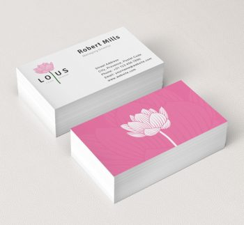 Lotus Flower Logo Business Card Template