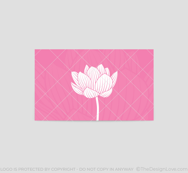 Lotus-Flower-Business-Card-Template-Back