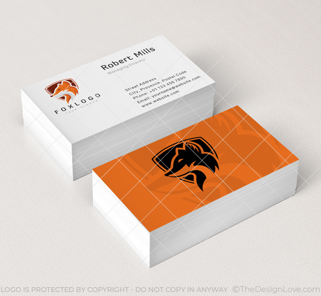 Fox-Shield-Business-Card-Mockup